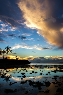 Low Tide at Ala Moana Beach Park