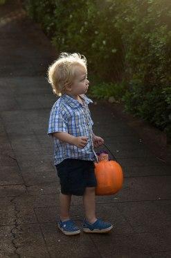 Boy ready for Halloween