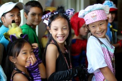 Elementary Students in Halloween Costume